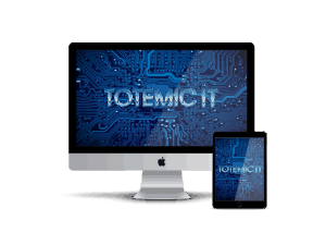 Totemic IT on Macbook and tablet