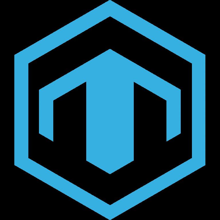 T logo in hexagon