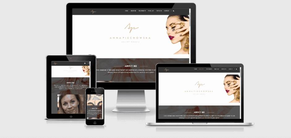 Secret Beauty Responsive website